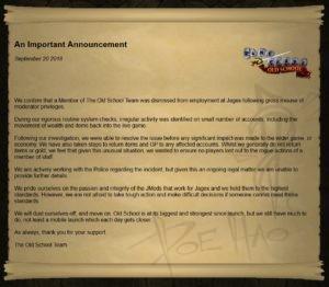 Medewerker RuneScape hackt spelers